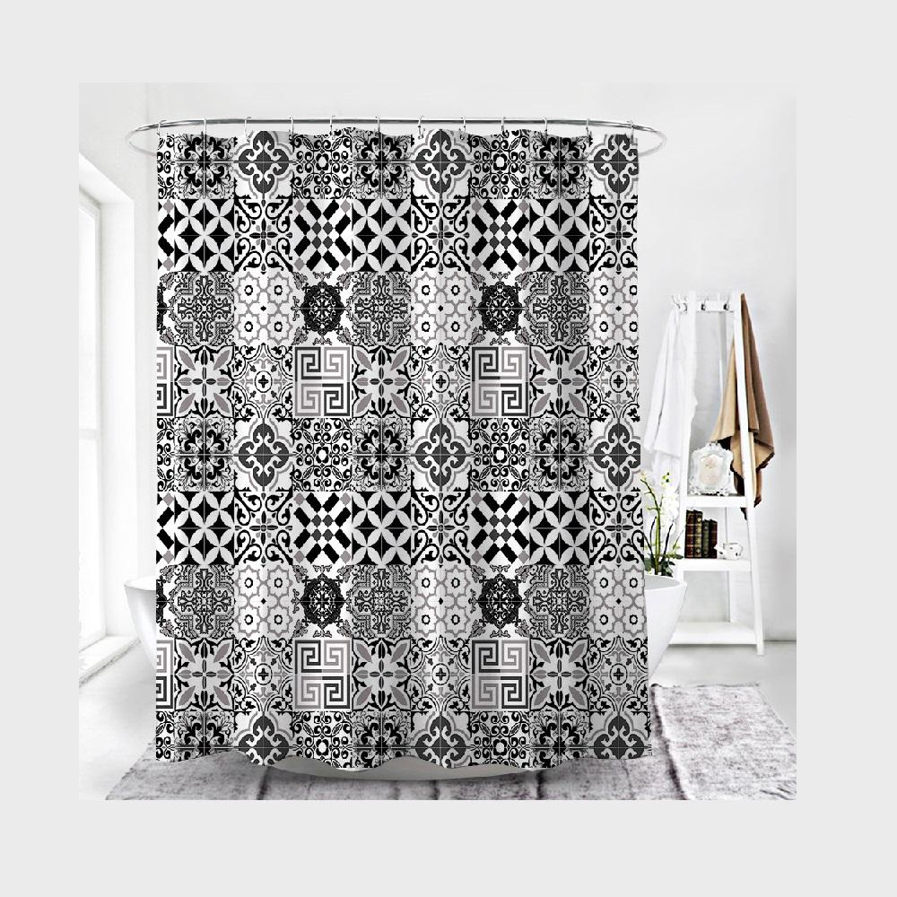 Mixed Tribal Designs Shower Curtain