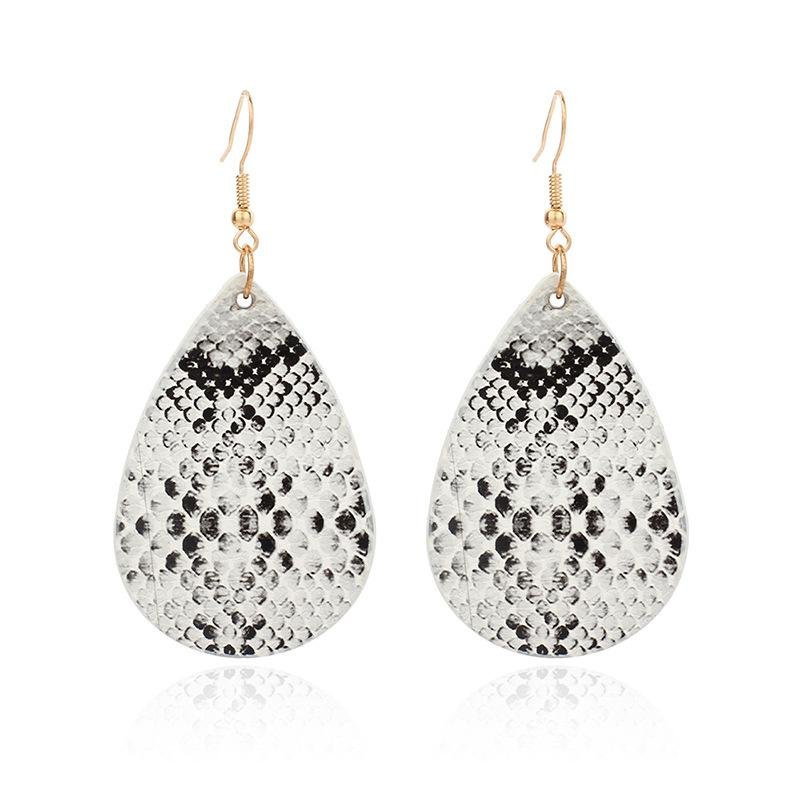 Snakeskin Waterdrop Hook Earrings