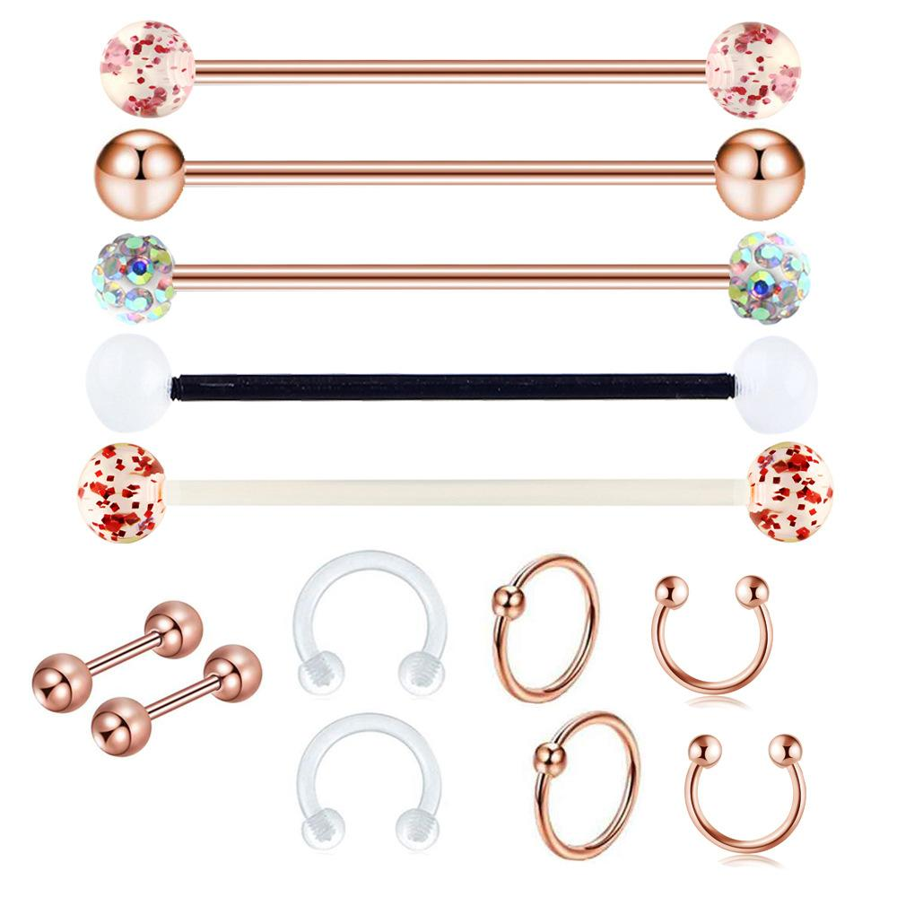 Party Balls Industrial Ear Piercing Set