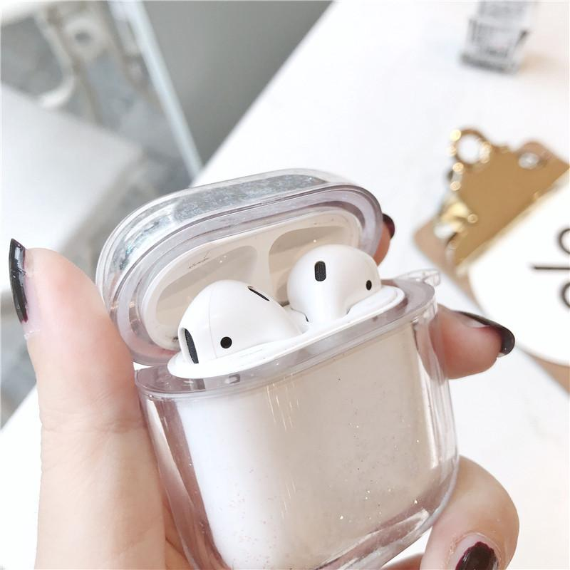 Glittery Transparent AirPods Case