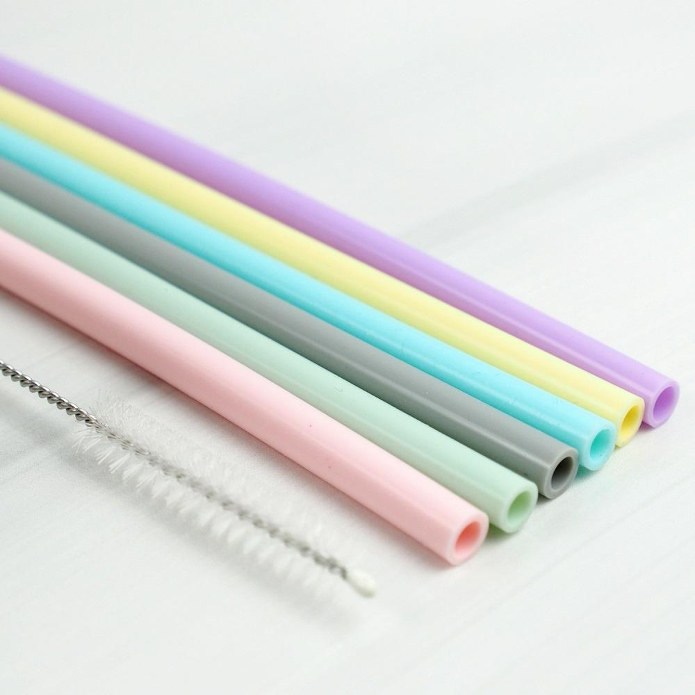 Recyclable Silicone Straw Set