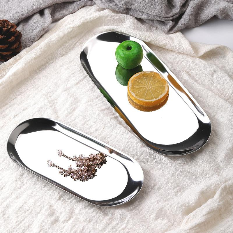Golden Oval Metal Tray