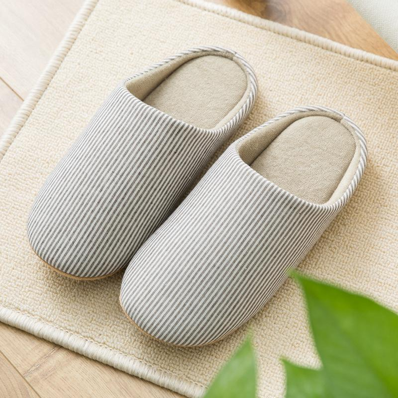 Comfy Stripe Slip On Indoor Slippers
