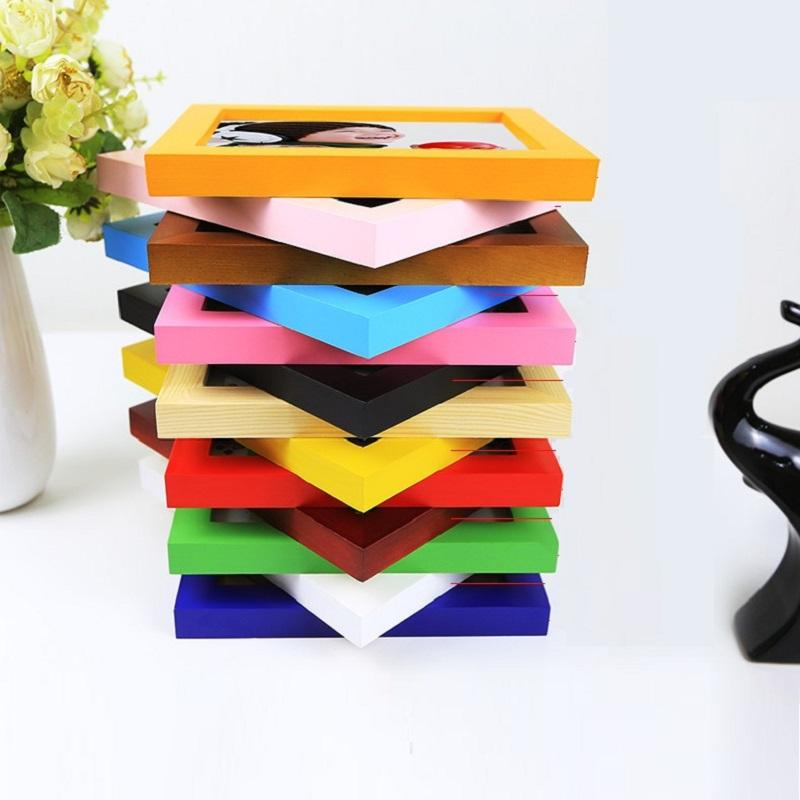 Colorful Wood Picture Frame