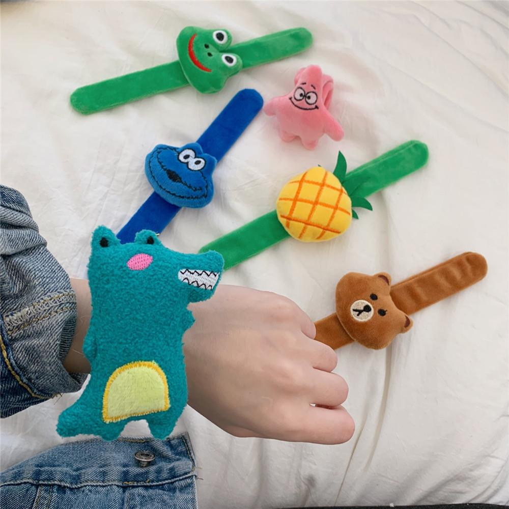 Cute Characters Plush Slap Bracelet