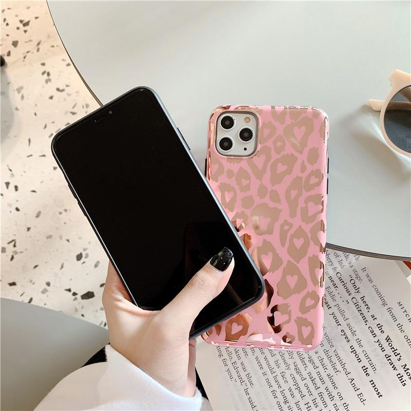 Girly Pink Leopard iPhone Case