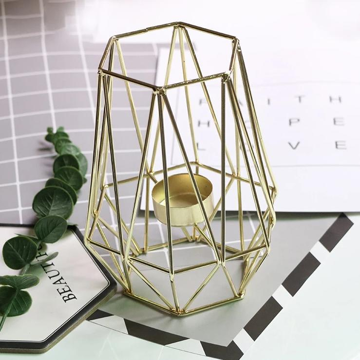 Geometric Cage Candle Holder