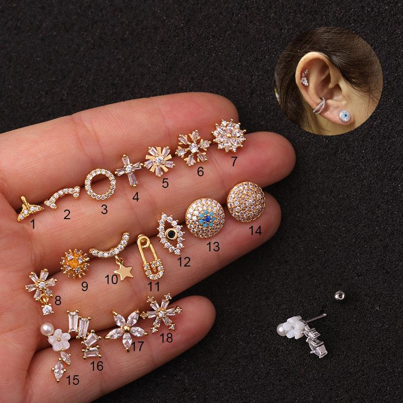 Dainty Crystal Ear Piercing Collection (Sold Individually)