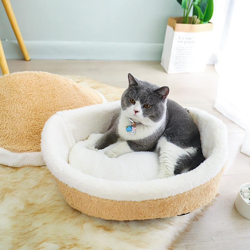 Plush Clam Pet Bed