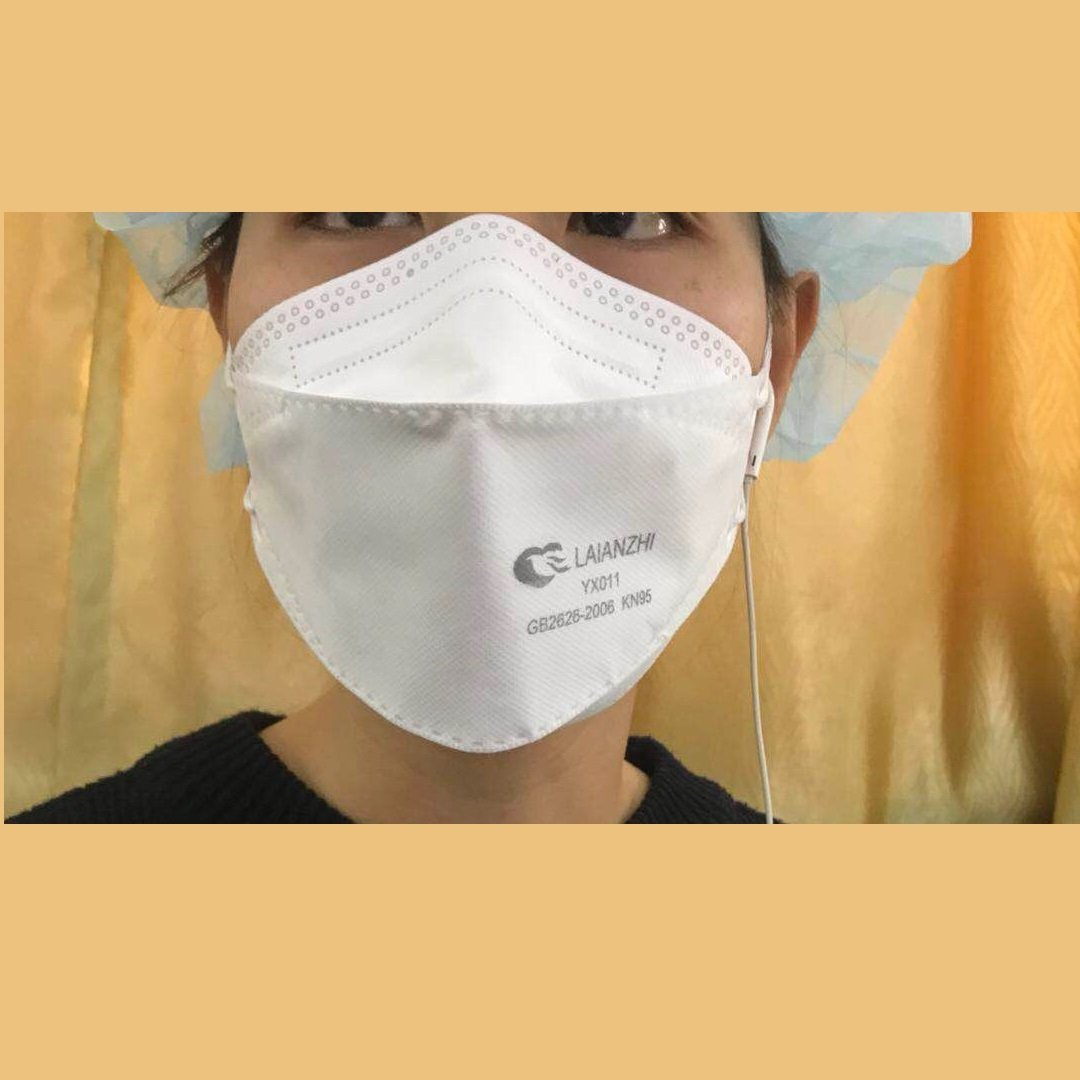 White N95 Mask Without Valve