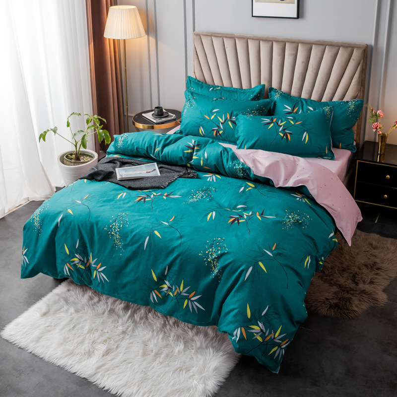 Pandas, Leaves, Flowers, and Fans Bedding Sets