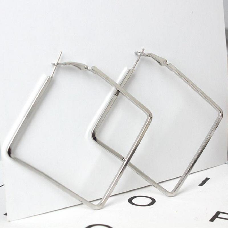 Large Square Dangle Earrings