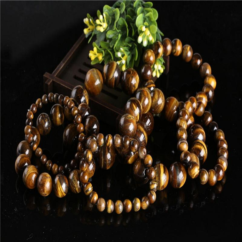 Authentic Tiger's Eye Marble Bead Bracelet