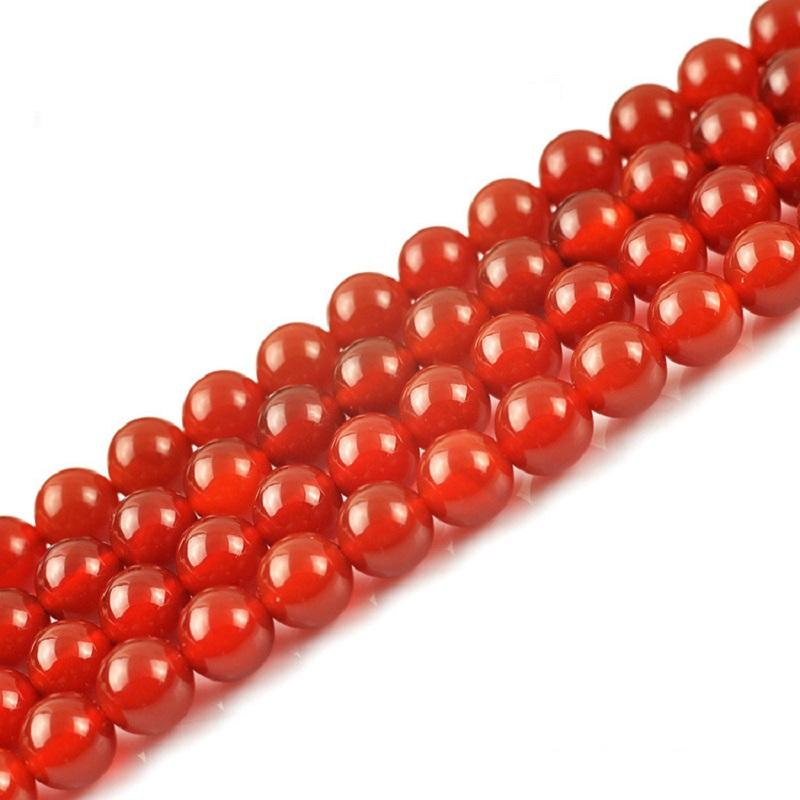 Natural Red Agate Round Beads