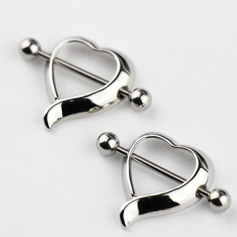 Hollow Heart Nipple Ring