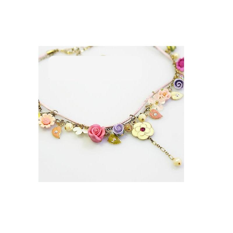 Mixed Flower Charm Necklace