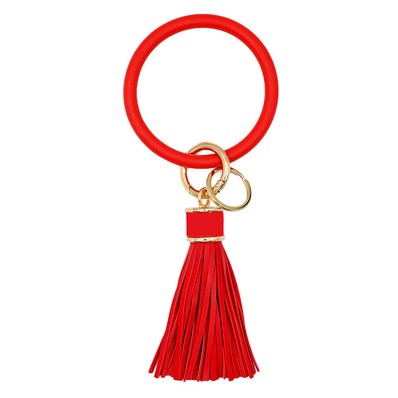 Silicone Key Ring with Tassel