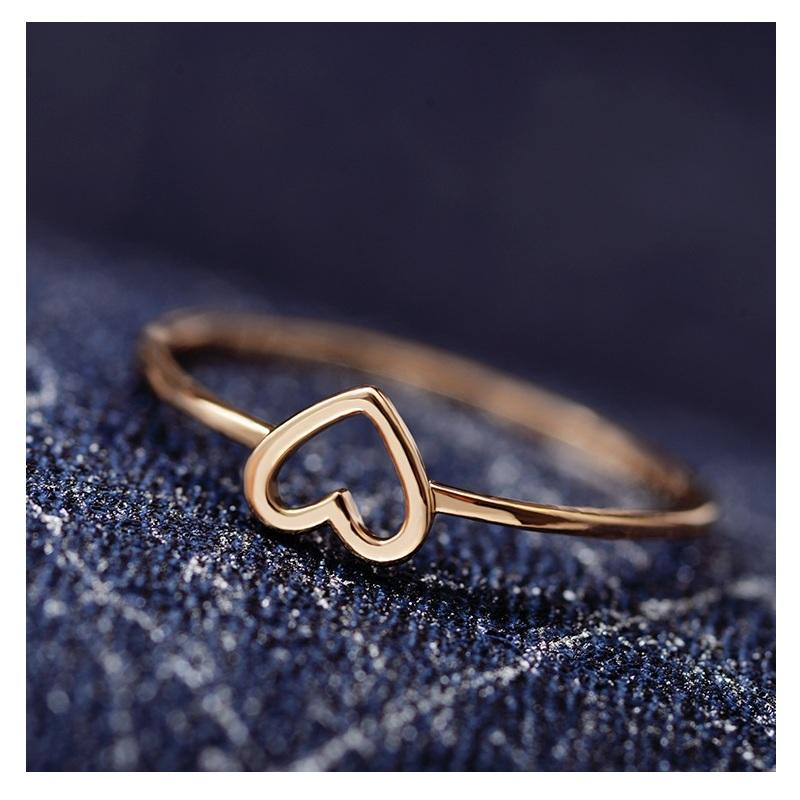 Simple Hollow Heart Ring