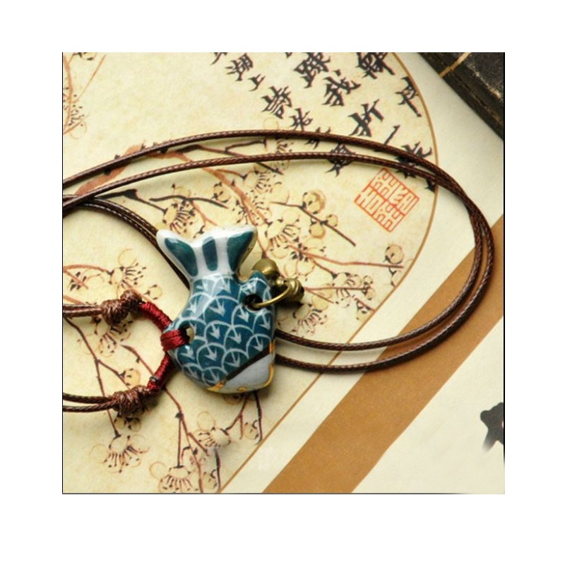 Fish and Bells Necklace