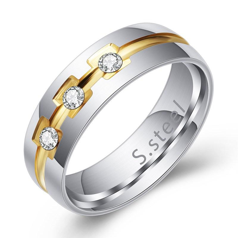Two-Toned Faux Diamond Ring