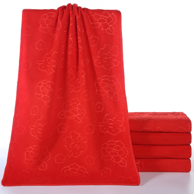 Lucky in Love Absorbent Red Towel