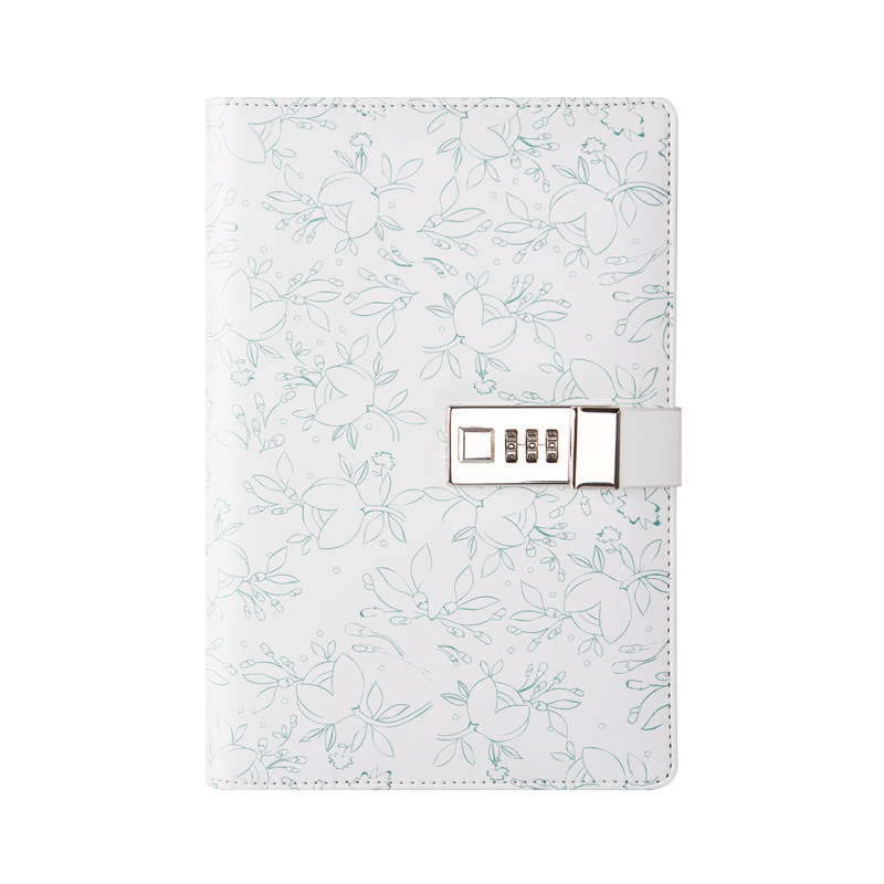 Floral Locked Diary Notebook