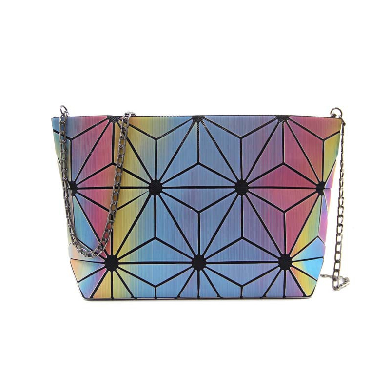 Rainbow Triangles Makeup Bag