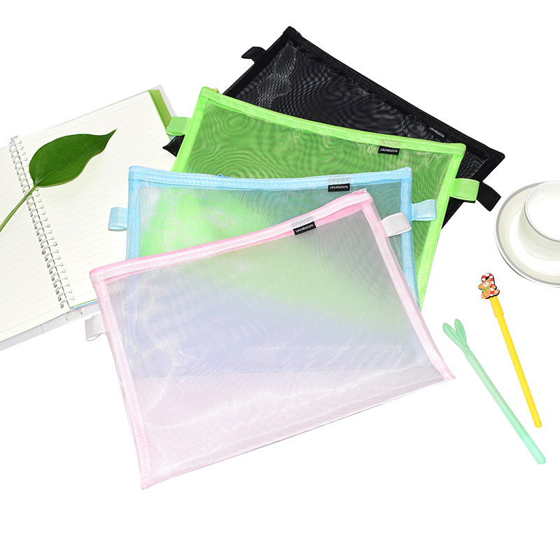 Colored Mesh Transparent Organizing Pouch