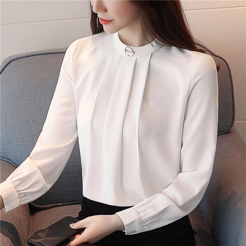 Polly Three Pleat Front Office Blouse
