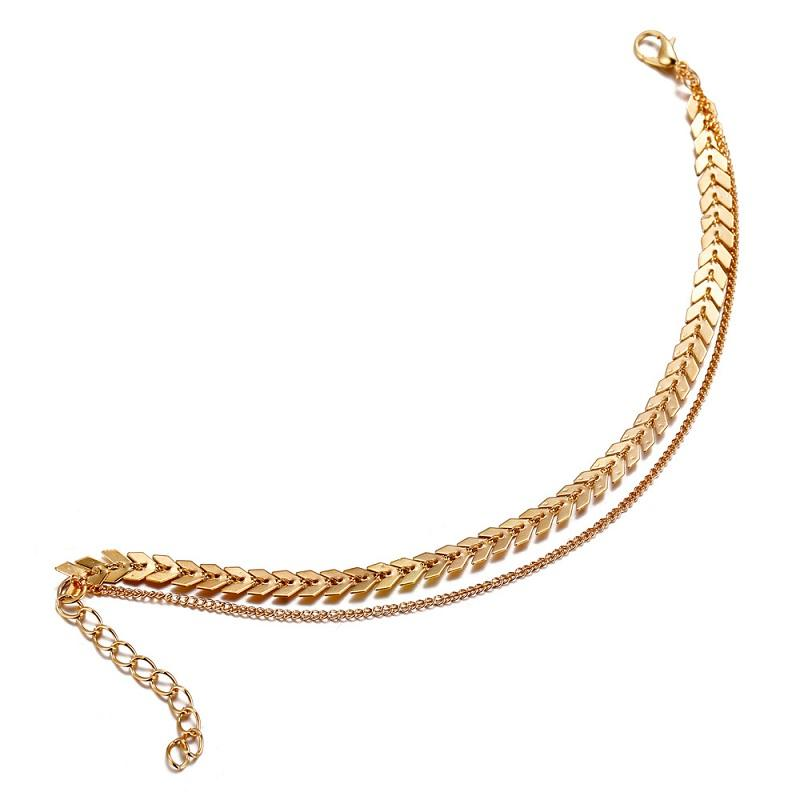 Arrow Chain 2-Layer Anklet