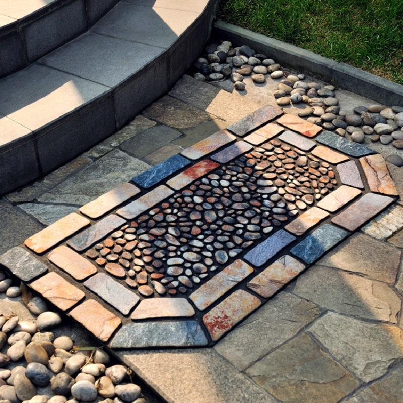 Stained Glass Rubber Door Mat