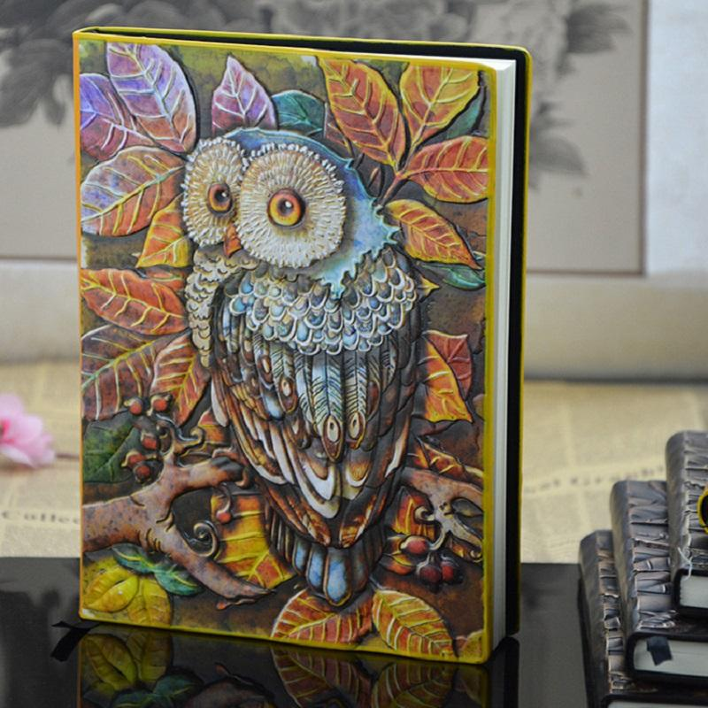 Wise Owl Recycled Paper Notebook