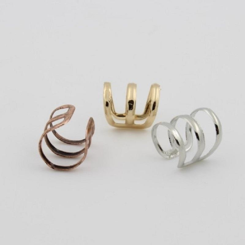 Tri Ring Ear Bone Clip