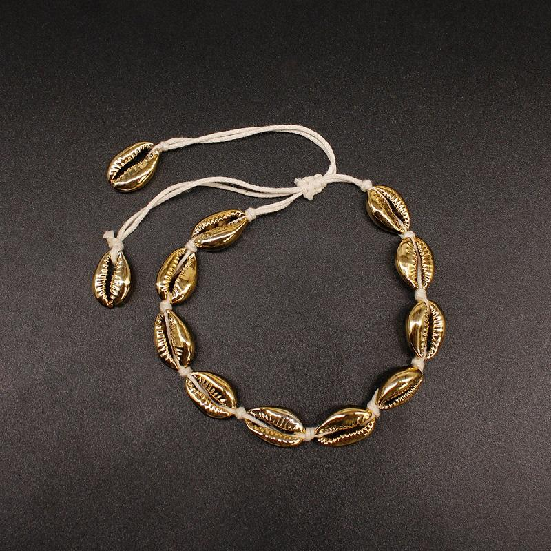Gold Puka Shell Anklet