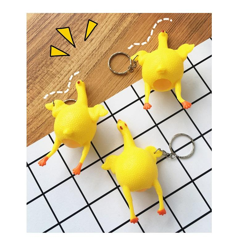 Chick Pinch Toy Keychain