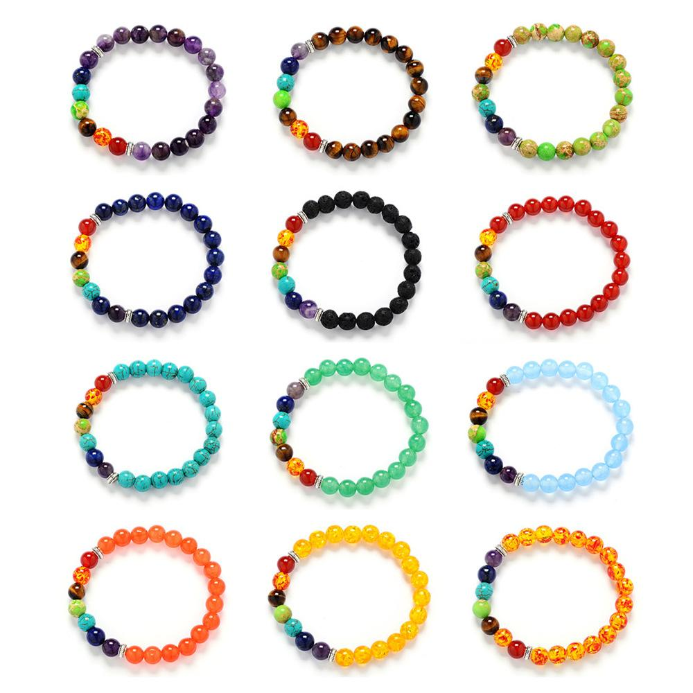 Multi-Colored Chakra Bead Bracelet