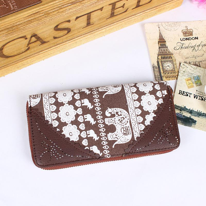 Embroidered Thai Themed Long Wallet
