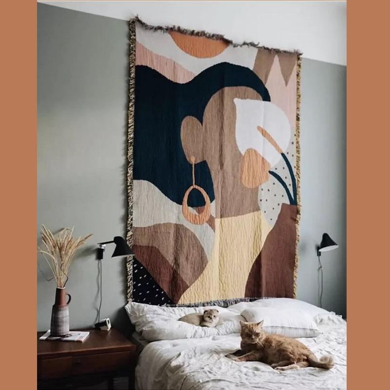 Girl with Earrings Tapestry