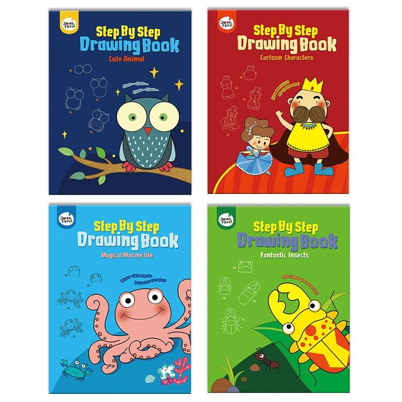 Children's Step By Step Coloring Book