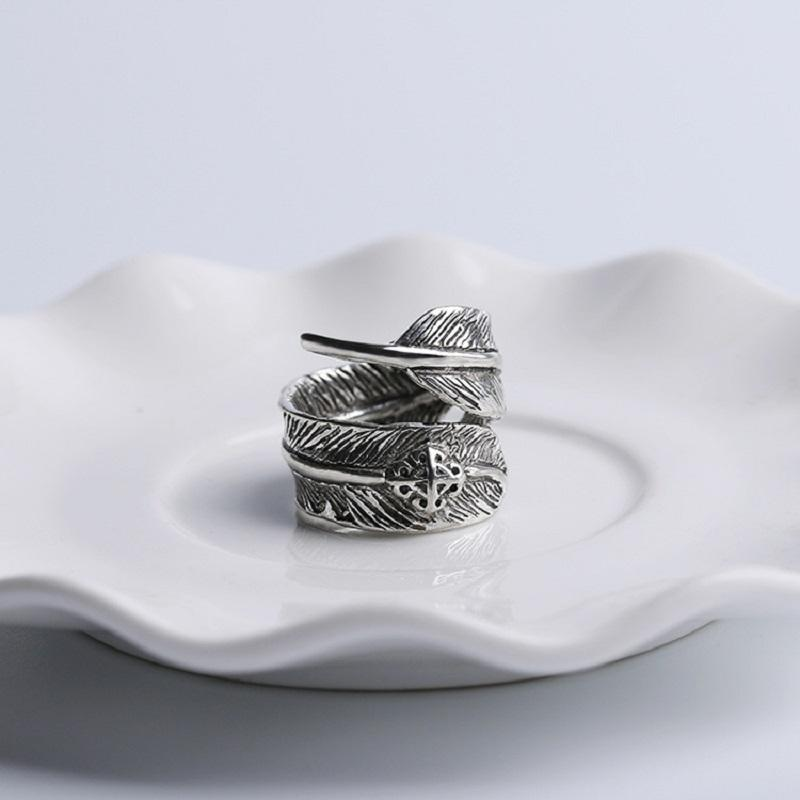 Feather Wrap Around Ring