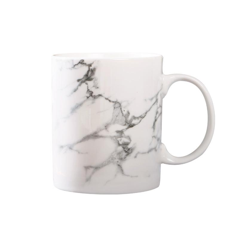 White Marble-patterned Coffee Mug