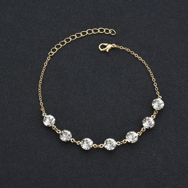 Round Crystals Chain Anklet