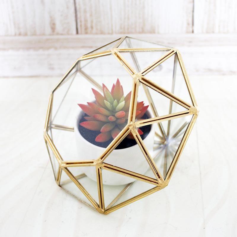 Geometric Glass Single Plant Vase