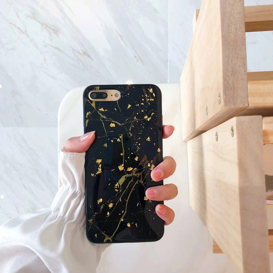 Gold Foil Marble Phone Case