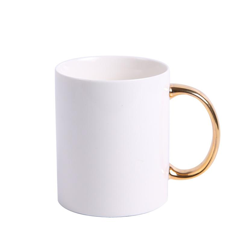 Coffee Mug with Gold Handle