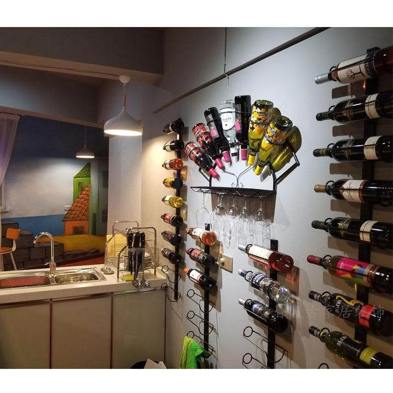 Wall Mounted Wine and Goblet Rack