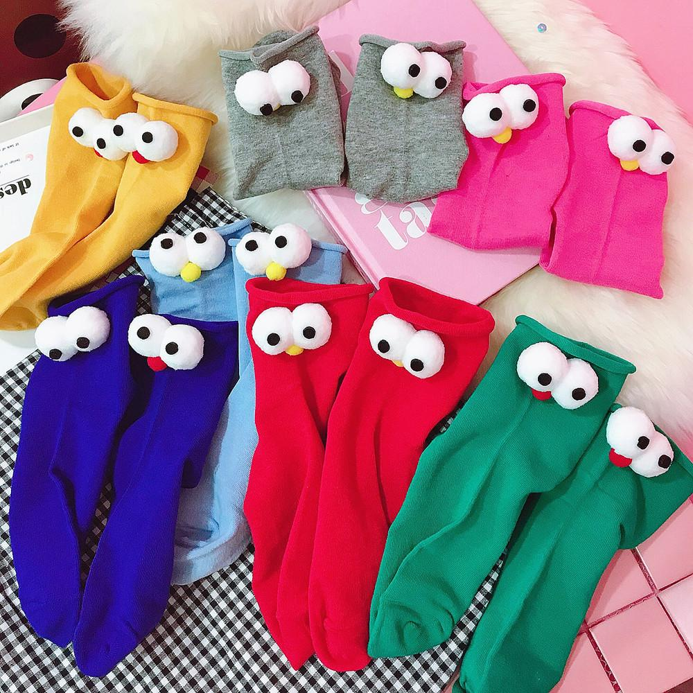 Big Eyes Tube Socks (10 Pairs/Set)