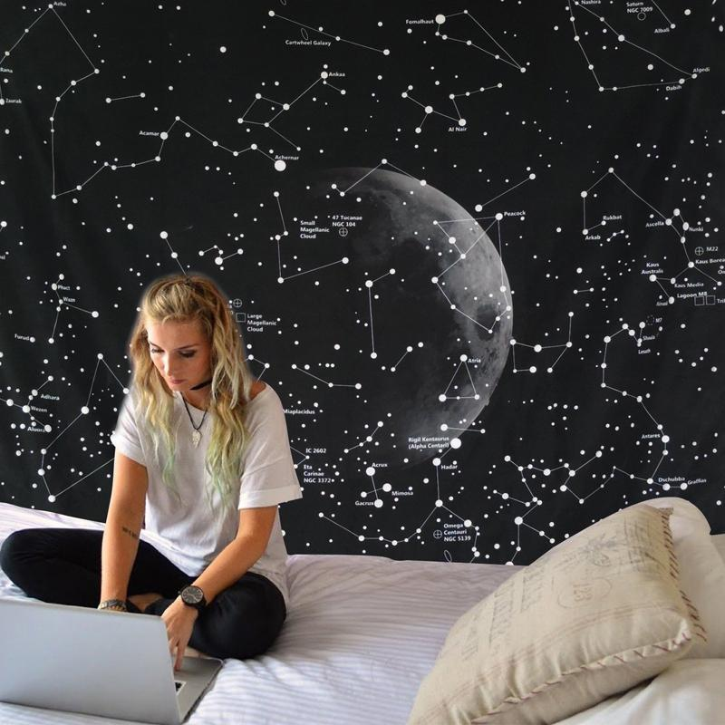 Constellations at Night Tapestry