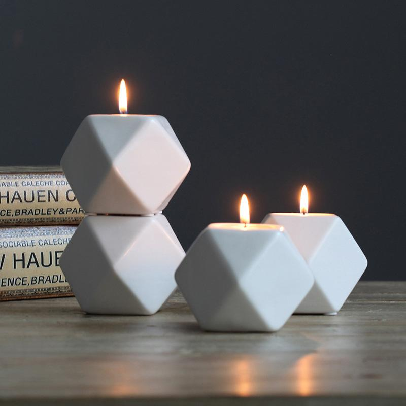 Cubic Ceramic Candle Holder
