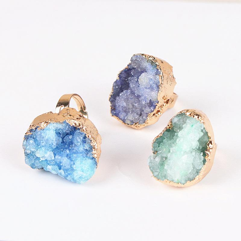 Gold Plated Natural Stone Ring